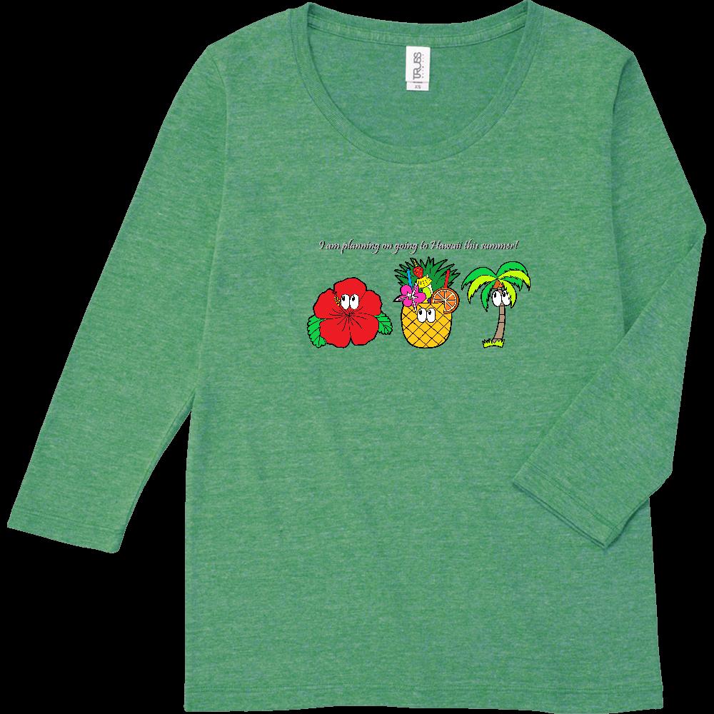 ハワイ/モンスター トライブレンド7分袖レディースTシャツ