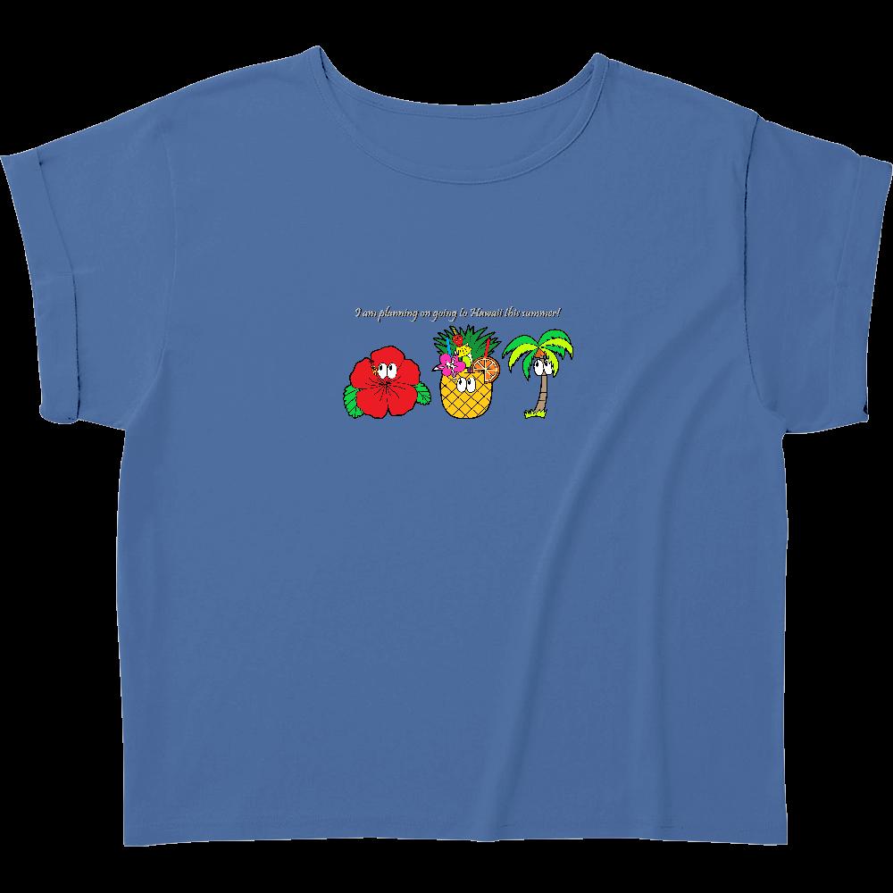ハワイ/モンスター ウィメンズ ロールアップ Tシャツ
