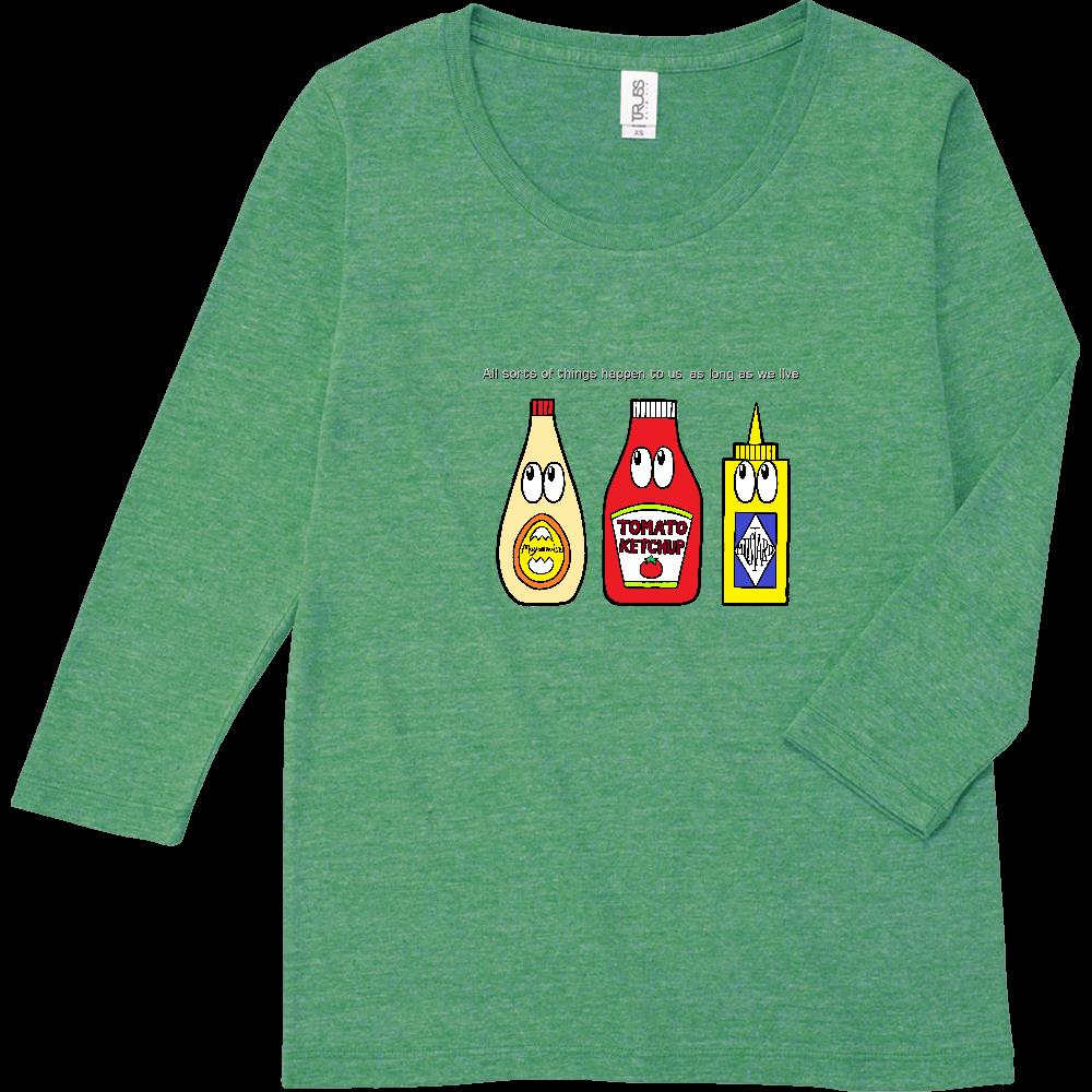 ソース/モンスター トライブレンド7分袖レディースTシャツ
