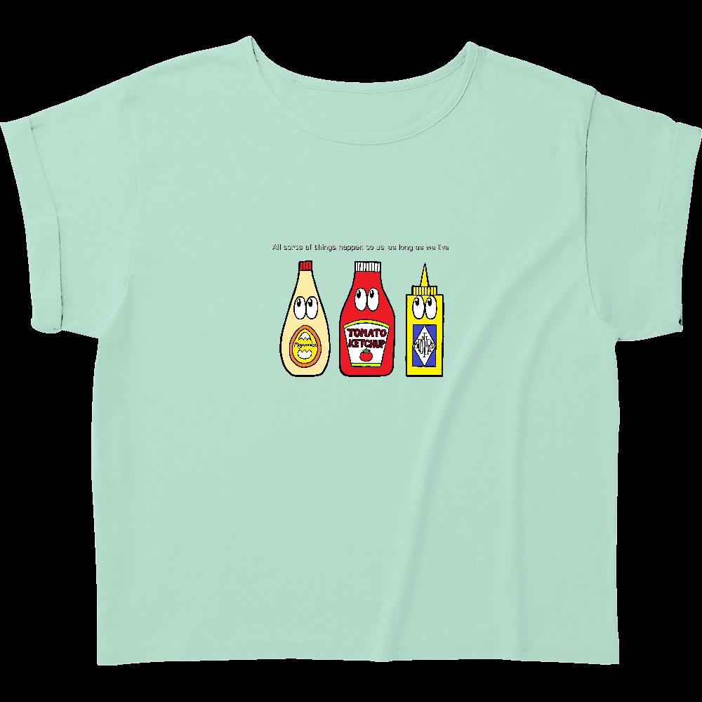ソース/モンスター ウィメンズ ロールアップ Tシャツ