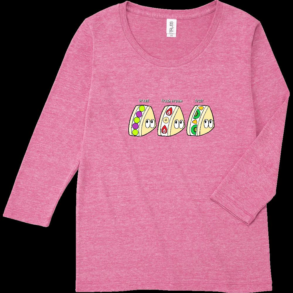 フルーツサンド/モンスター トライブレンド7分袖レディースTシャツ