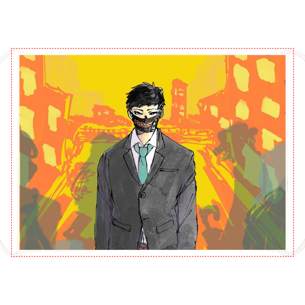 ナニモイッテハナラヌマスク ひんやりマスク