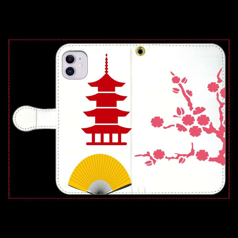 懐かしい光景 手帳型ベルト付きiPhone11 iPhone11 手帳型スマホケース