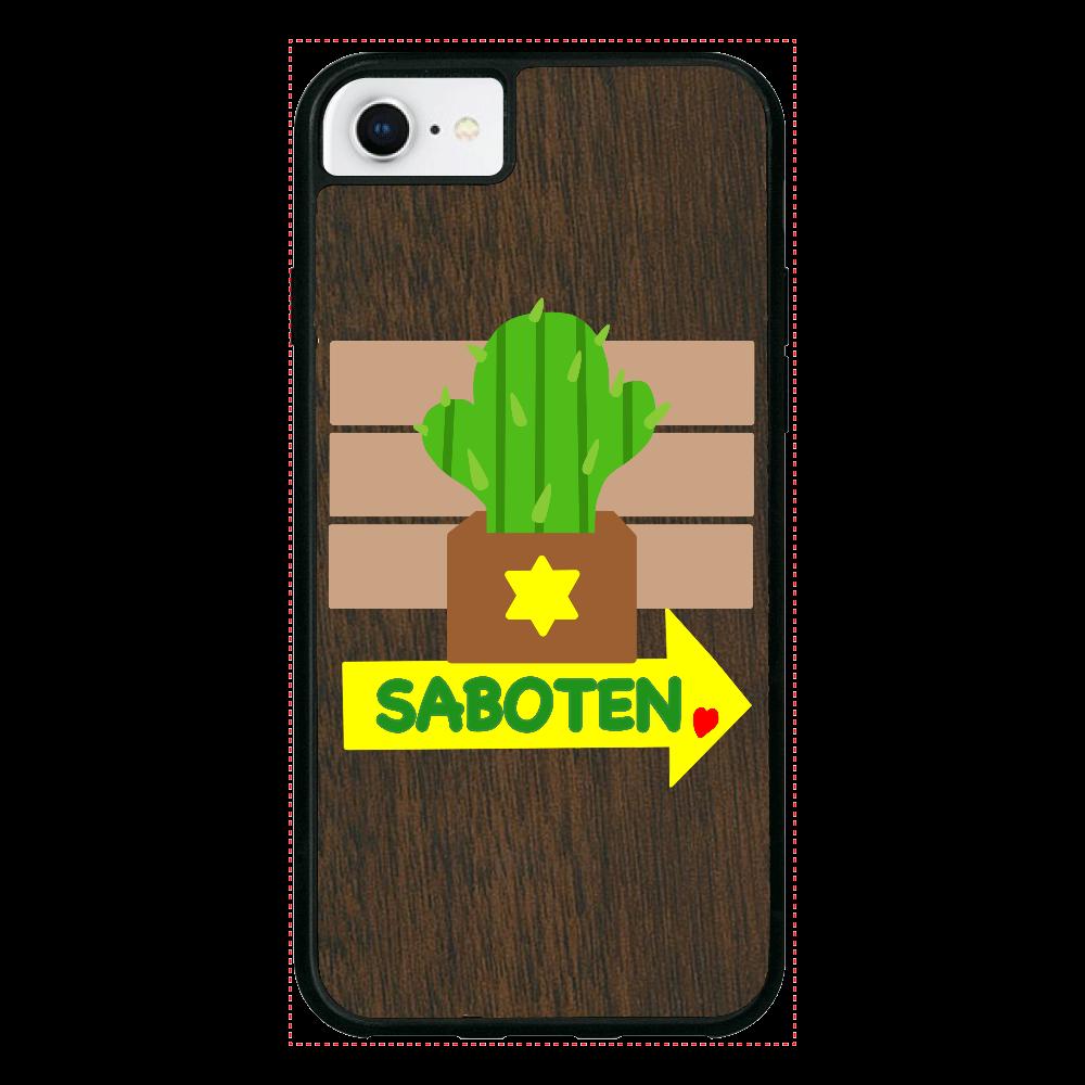 サボテン iPhone8 ウッドケース