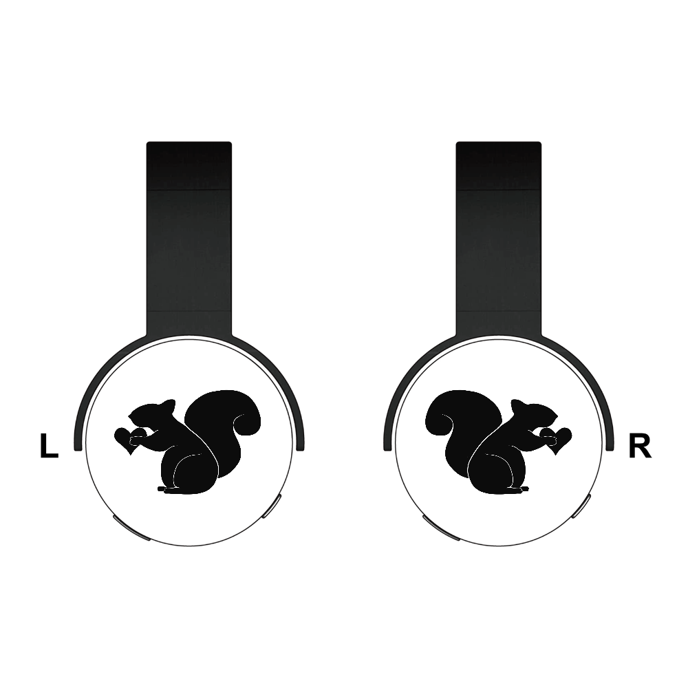 リス Bluetoothヘッドフォン