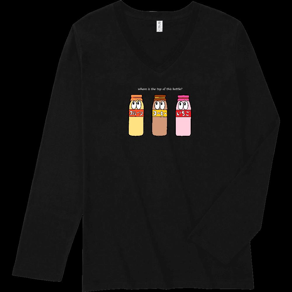 牛乳/モンスター スリムフィット VネックロングスリーブTシャツ