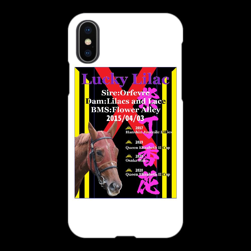 ラッキーライラック引退記念スマホケース iPhoneX/Xs iPhoneX/Xs(白)
