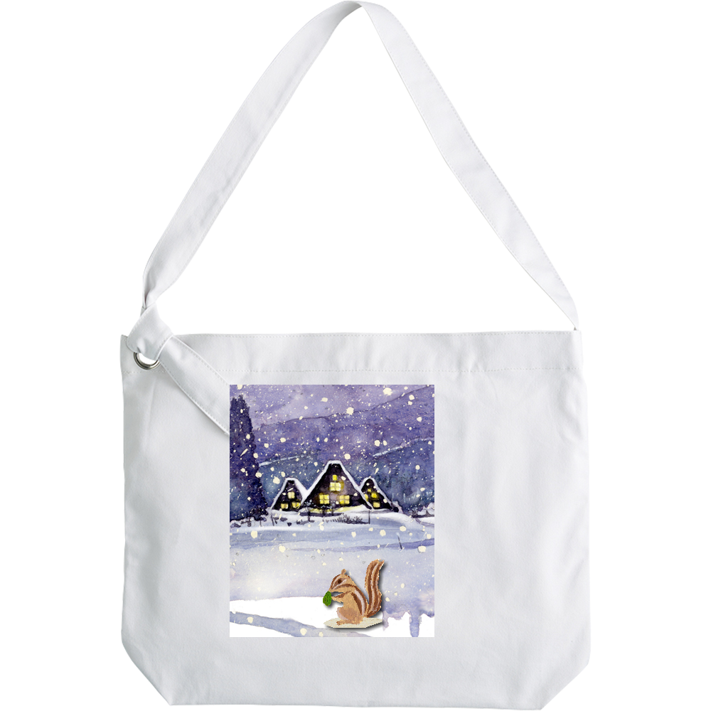 雪上のリス ショルダーバッグ クラフトリングショルダーバッグ
