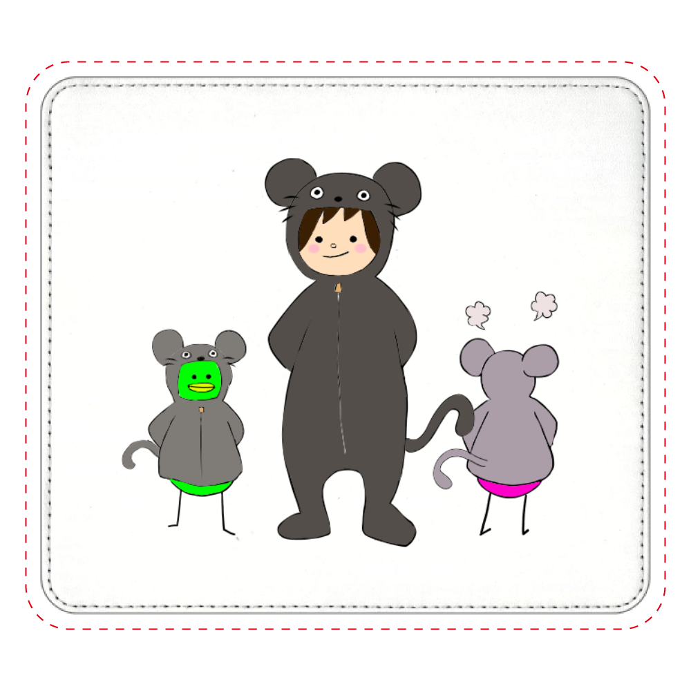 ネズミの着ぐるみすんこマウスパッド マウスパッド