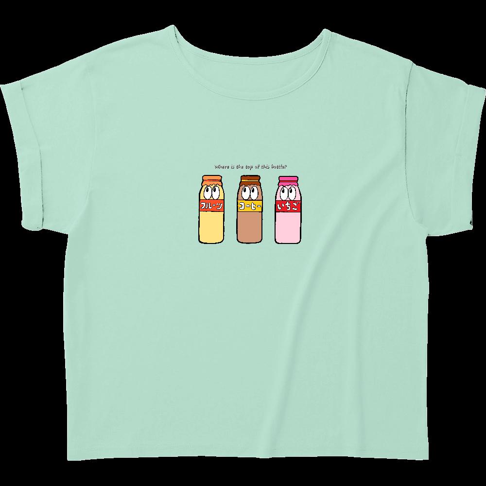 牛乳/モンスター ウィメンズ ロールアップ Tシャツ