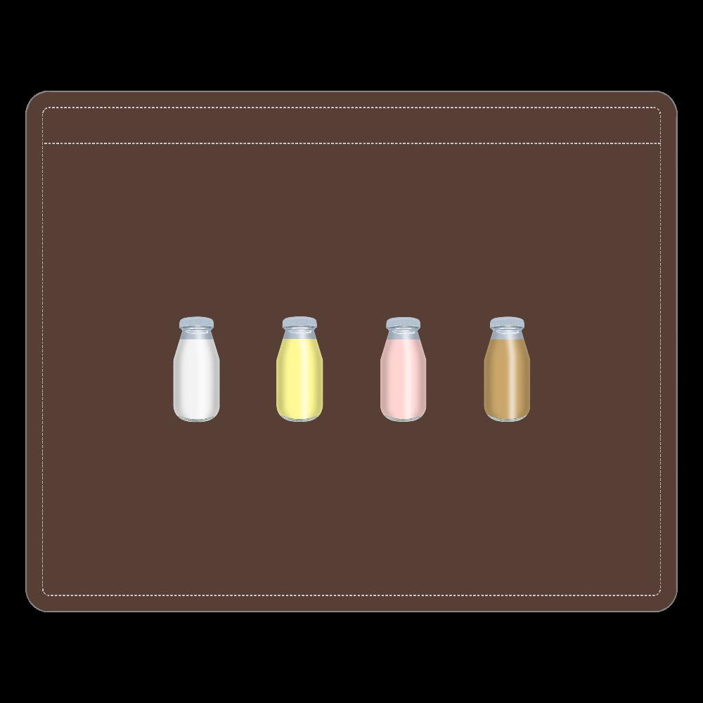 牛乳達-プレーンバージョン レザーIDカードホルダー レザーIDカードホルダー(ネックストラップ付)