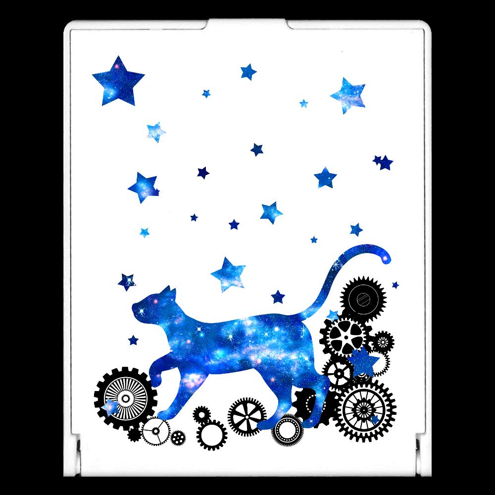 宇宙猫と歯車 スクエアミラー