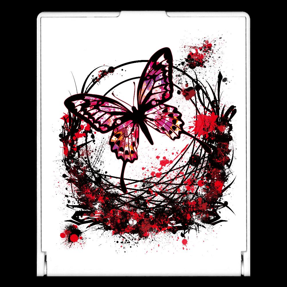 アゲハ蝶赤 スクエアミラー
