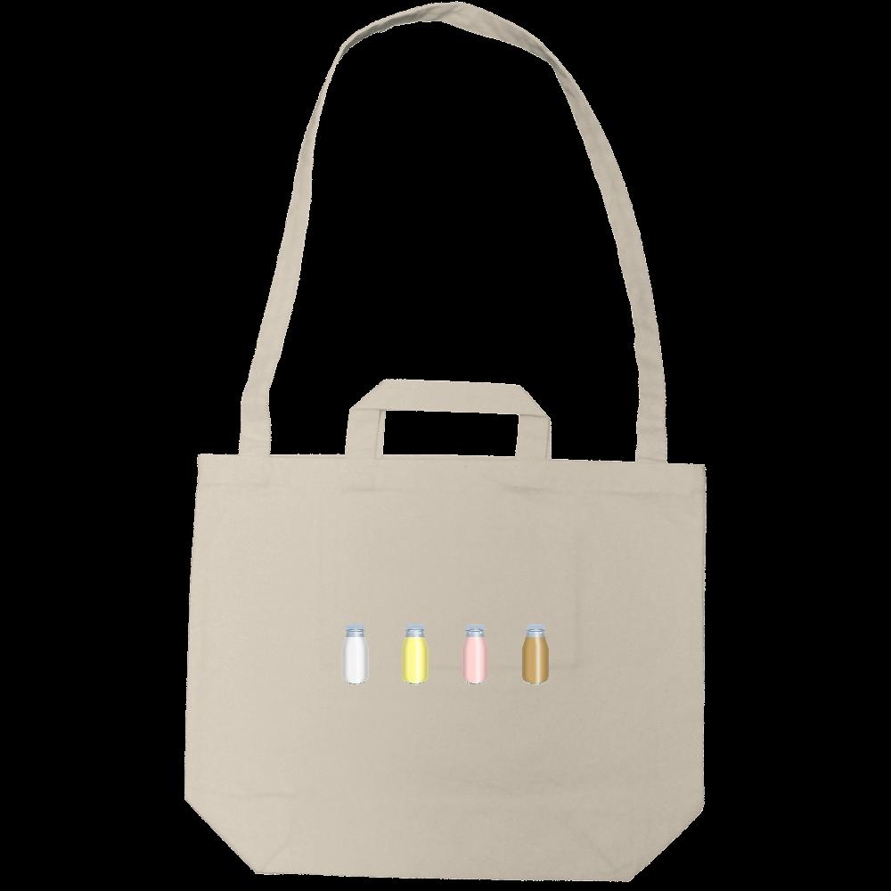 牛乳達-プレーンバージョン ショルダートートバッグ キャンバスショルダートート(ポケット付)