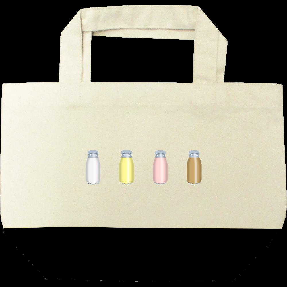 牛乳達-プレーンバージョン トートバッグ キャンバスツートントートバッグ(S)