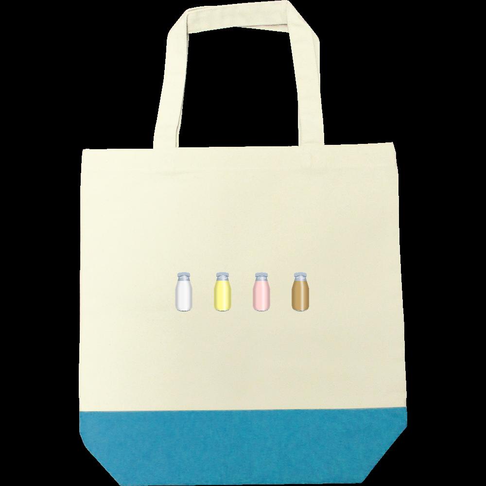 牛乳達-プレーンバージョン トートバッグ キャンバスツートントートバッグ(M)