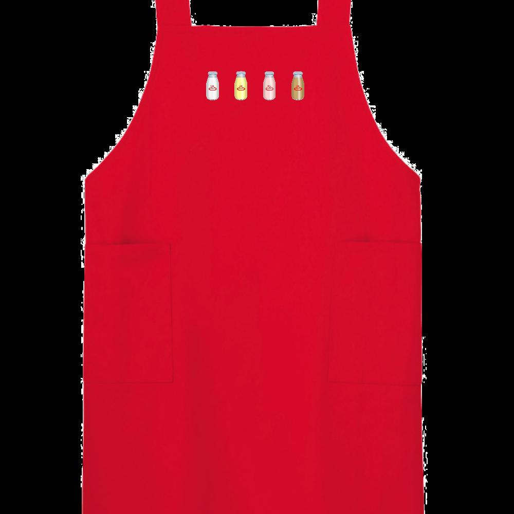 牛乳達 温泉・銭湯バージョン エプロン H型エプロン