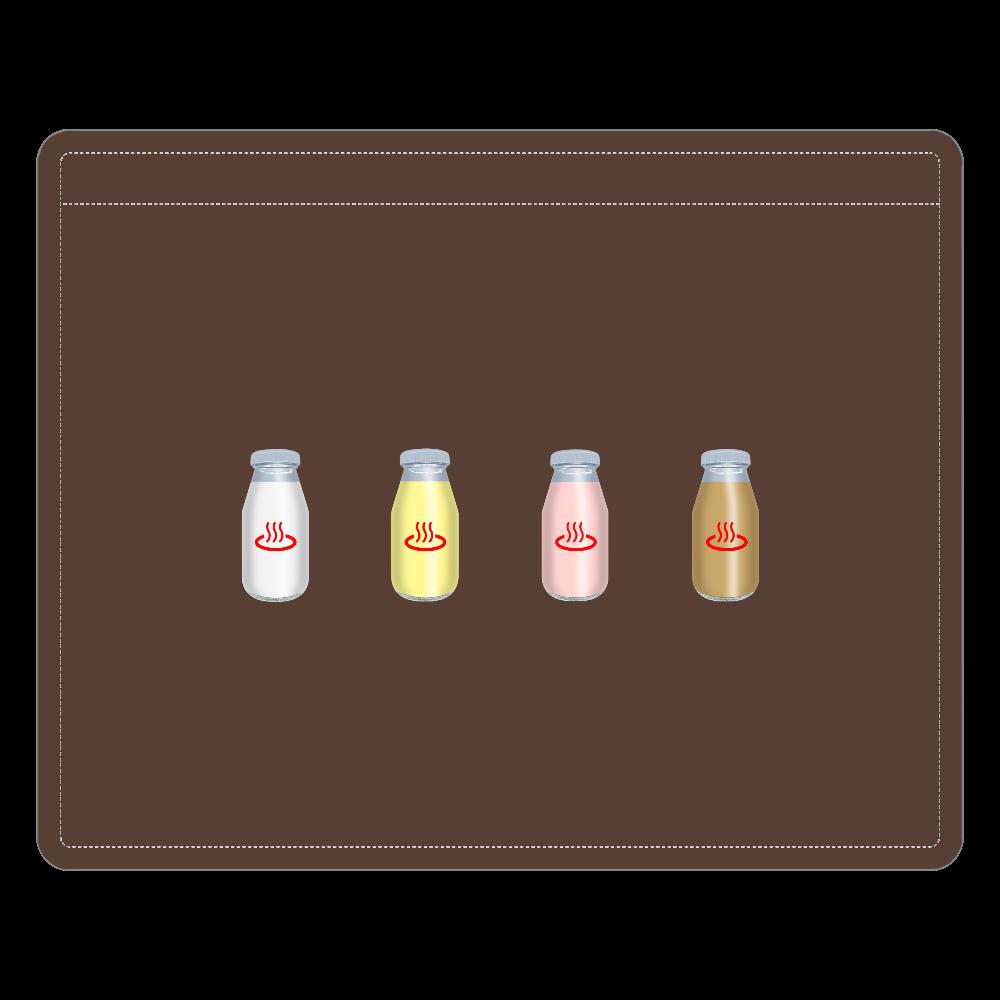 牛乳達 温泉・銭湯バージョン レザーIDカードホルダー レザーIDカードホルダー(ネックストラップ付)