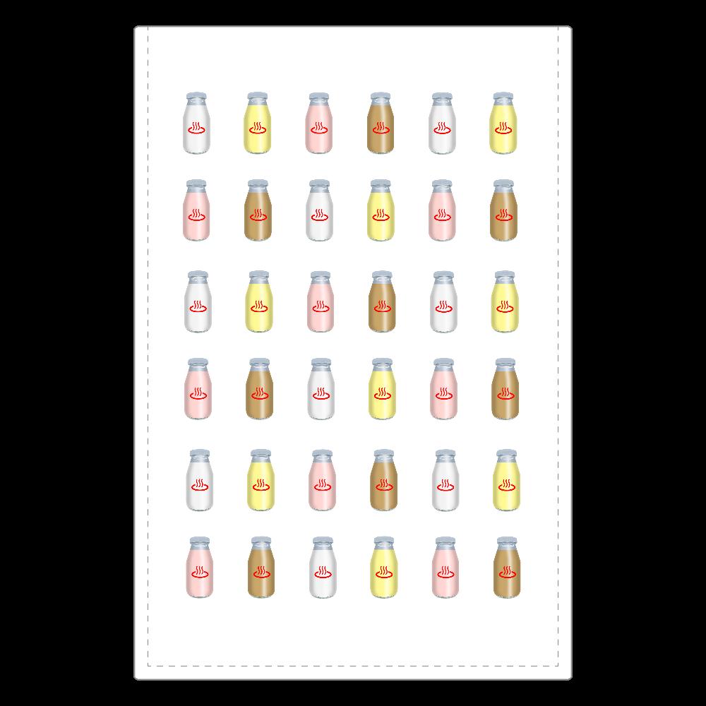 牛乳達 温泉・銭湯バージョン ミラー  ソフトレザーミラー