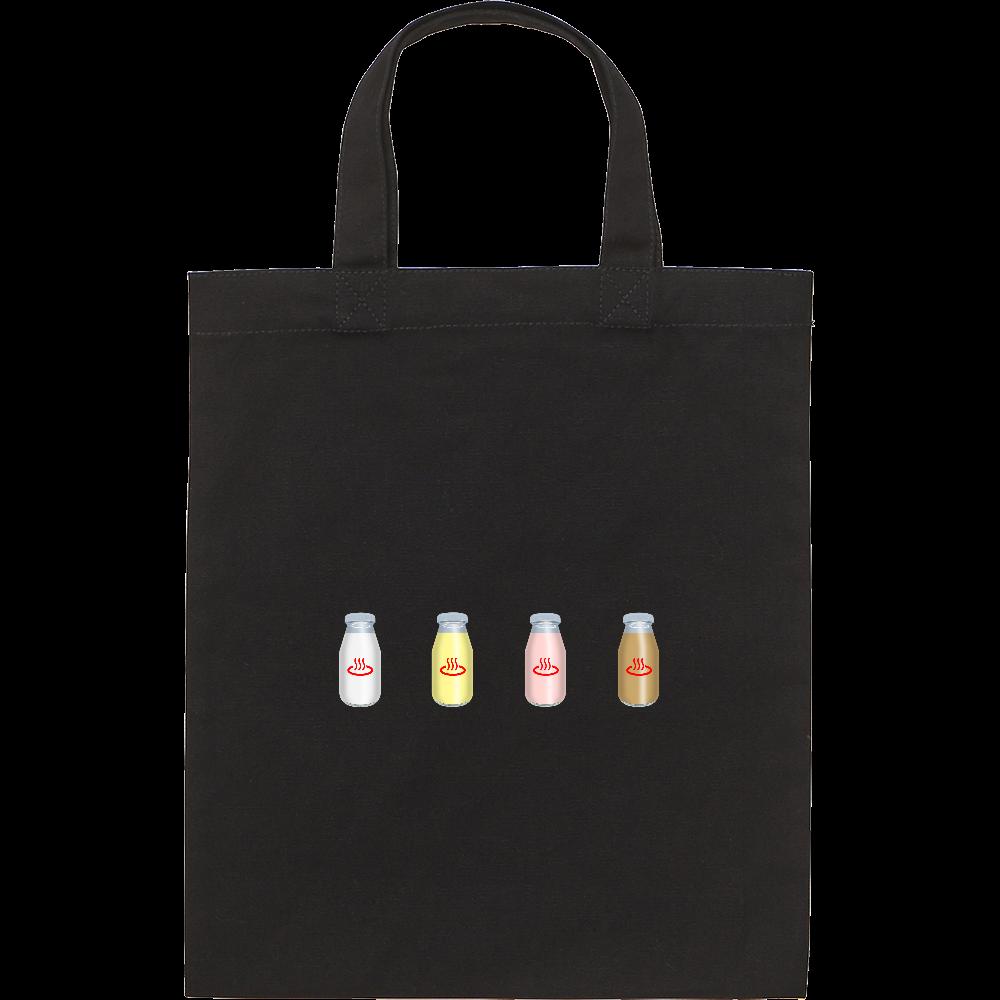 牛乳達 温泉・銭湯バージョン トートバッグ スタンダードキャンバスフラットトートバッグ(S)
