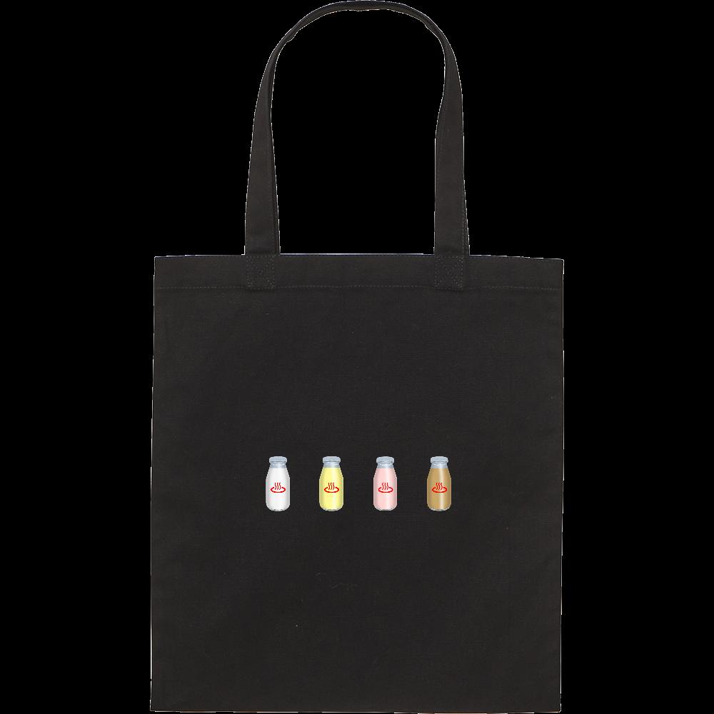 牛乳達 温泉・銭湯バージョン トートバッグ スタンダードキャンバスフラットトートバッグ(M)
