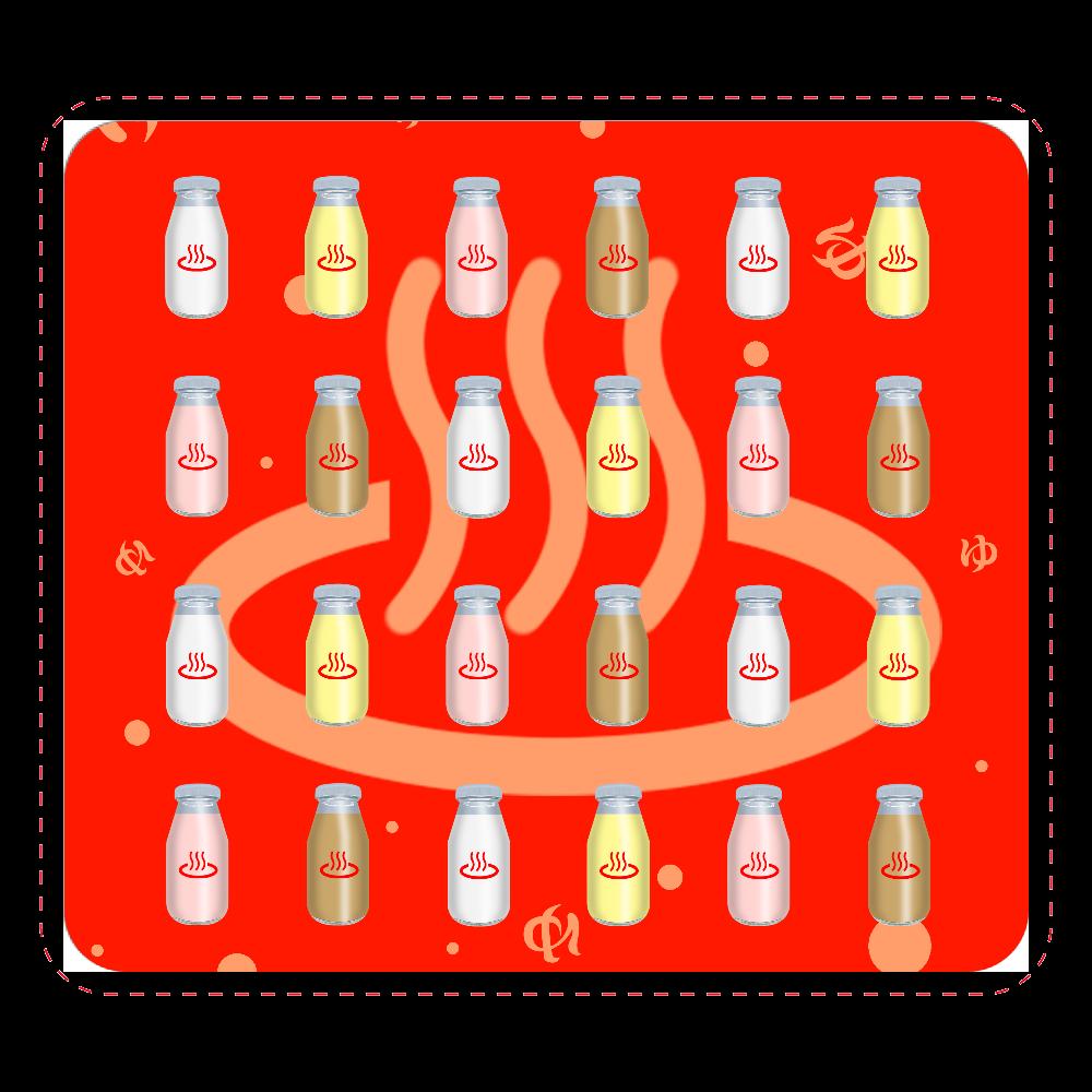 牛乳達 温泉・銭湯バージョン マウスパッド マウスパッド