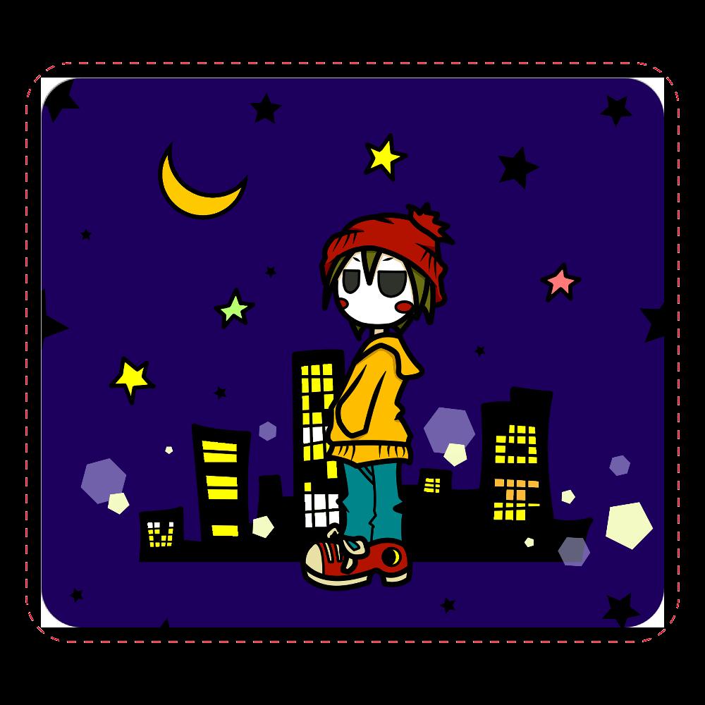 夜と少年 マウスパッド マウスパッド