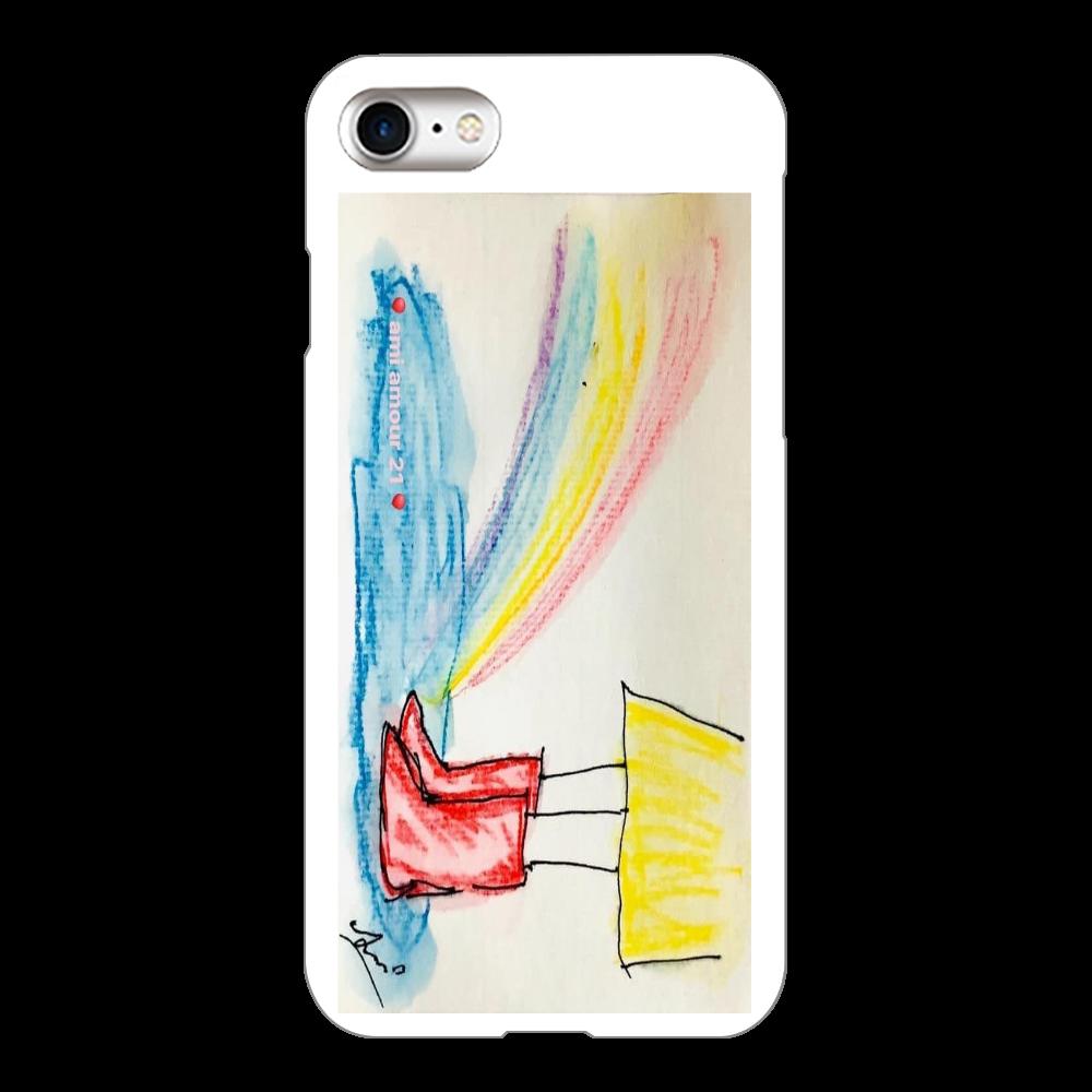 「赤い長靴と虹」iPhone 7(ケース) iPhone7(白)