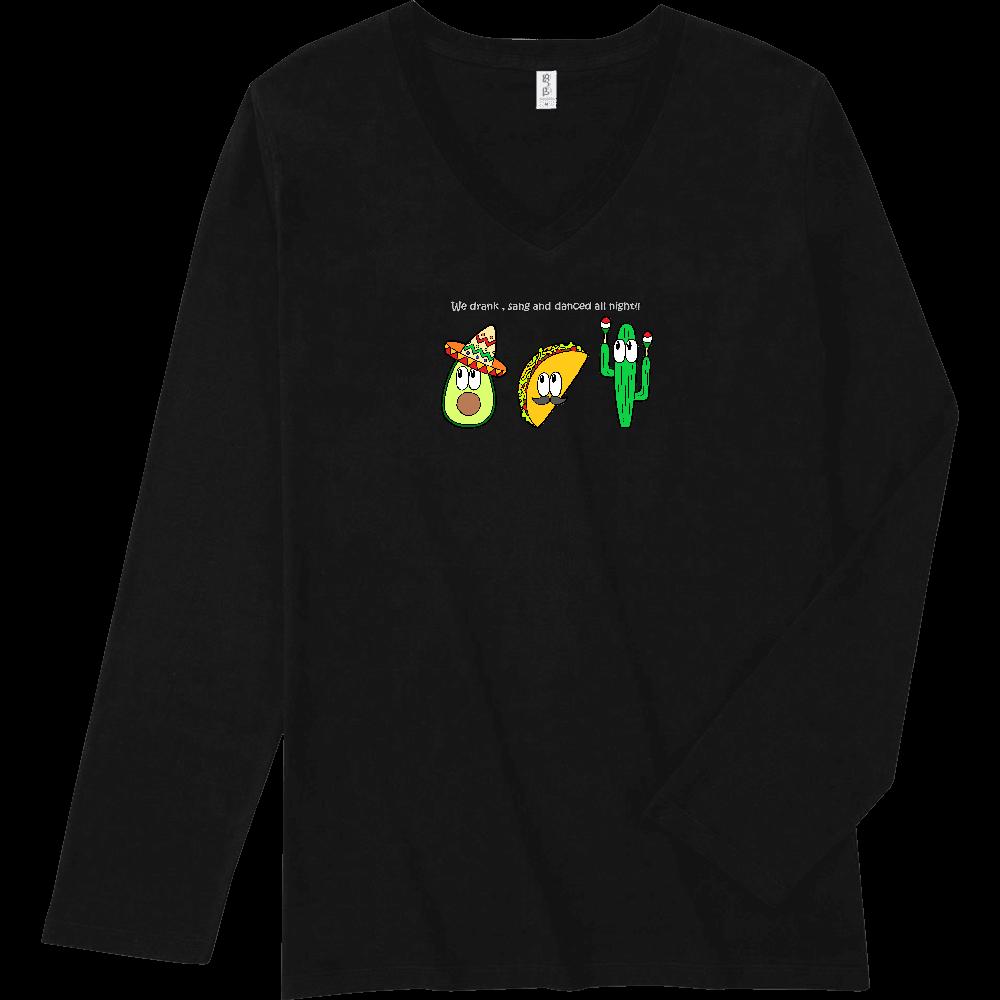 メキシコ/モンスター スリムフィット VネックロングスリーブTシャツ