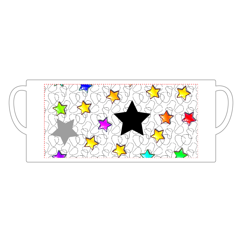 星空 マグ 陶器マグストレート(M)