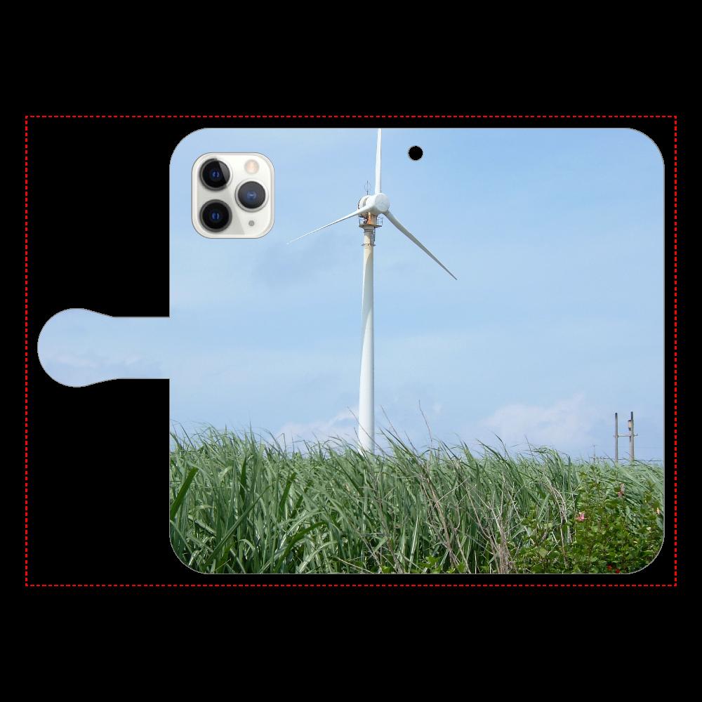 さとうきび畑と風車 手帳型iPhone11 Pro iPhone11 Pro 手帳型スマホケース