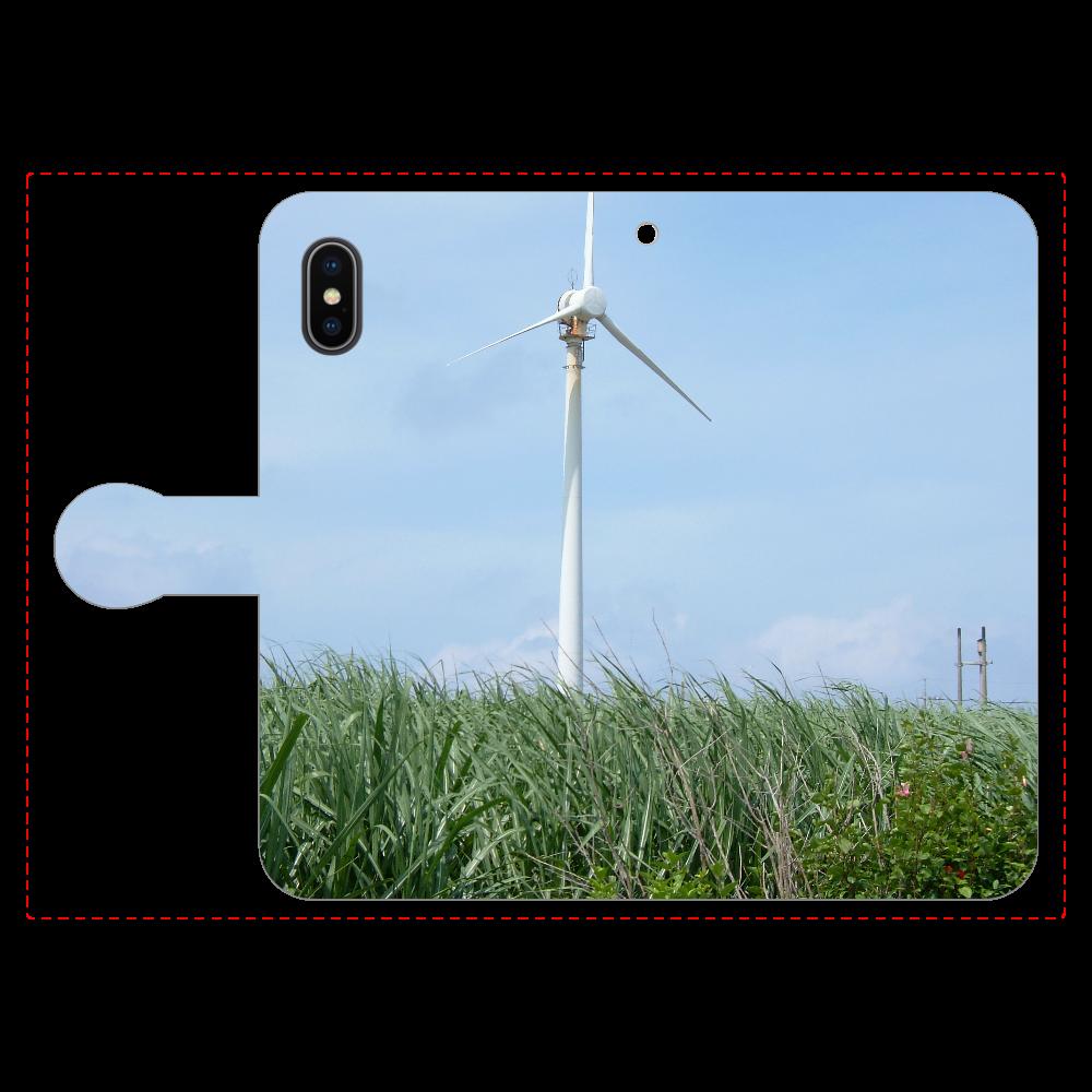 さとうきび畑と風車 手帳型iPhoneX/Xs iPhoneX/Xs 手帳型スマホケース