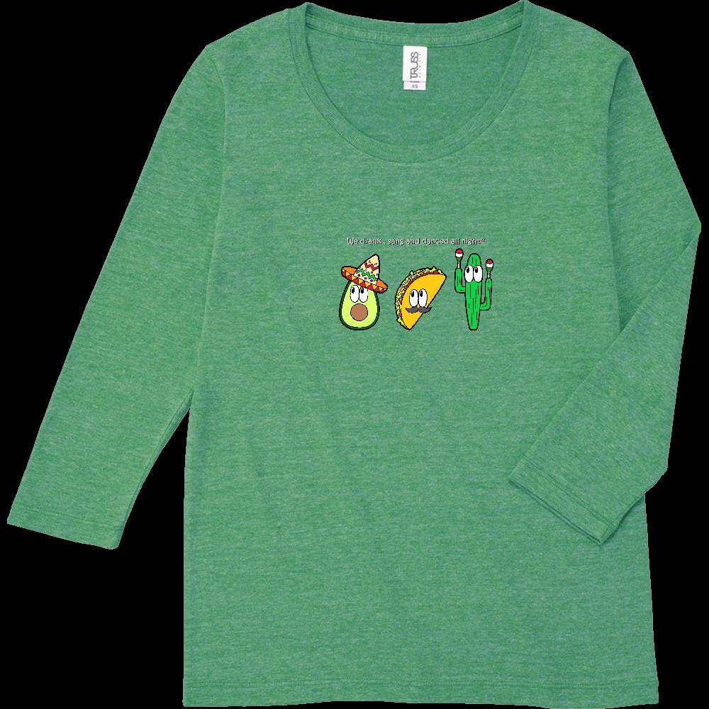 メキシコ/モンスター トライブレンド7分袖レディースTシャツ