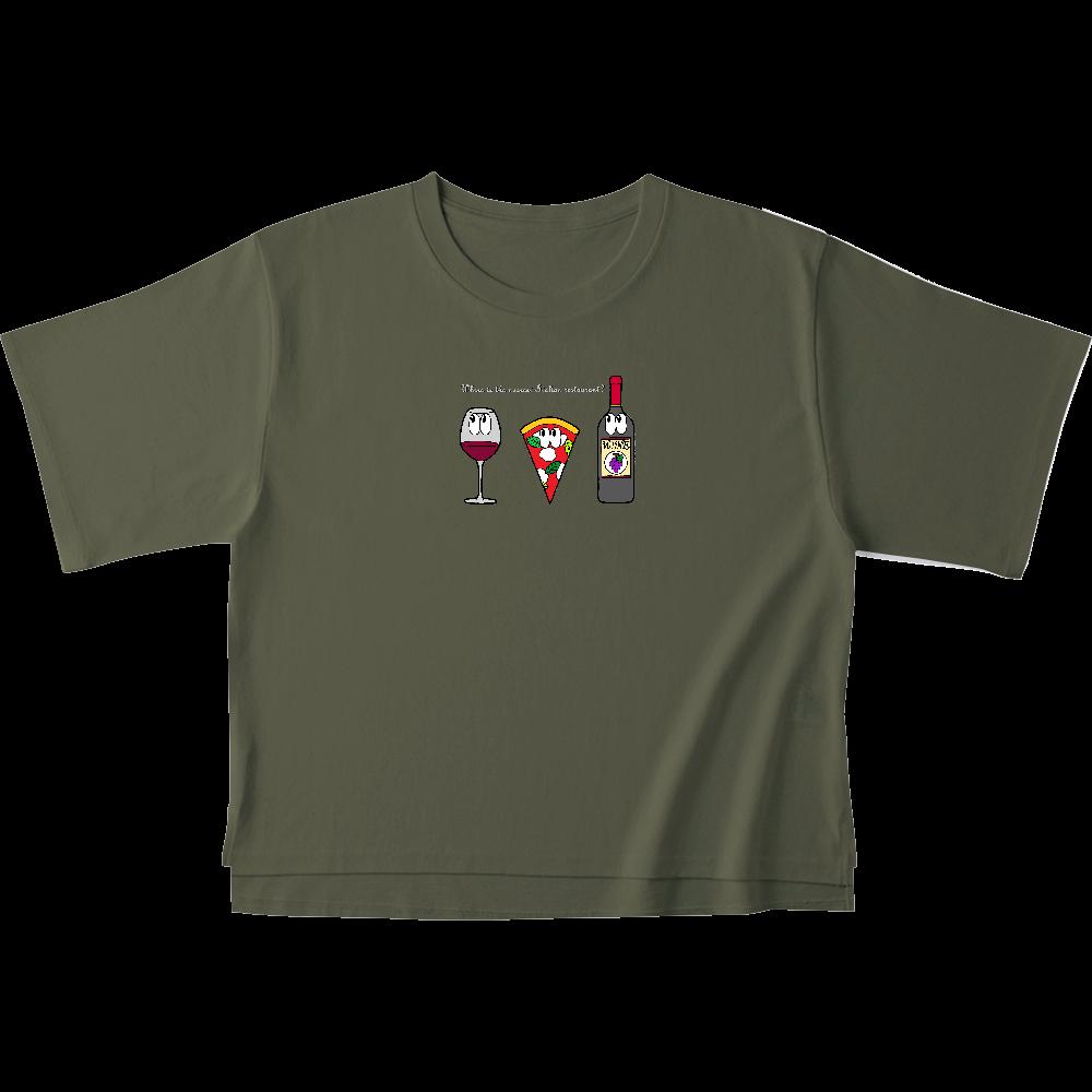 ピザ/モンスター オープンエンドマックスウェイトウィメンズオーバーTシャツ