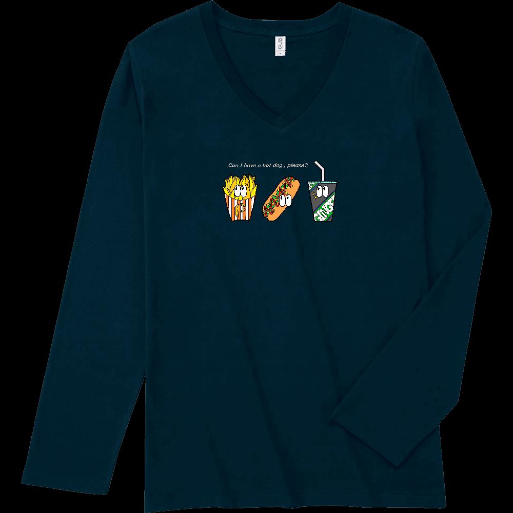 ファストフード/カラー スリムフィット VネックロングスリーブTシャツ