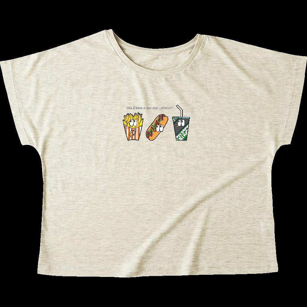 ファストフード/カラー ウィメンズ ドルマン Tシャツ