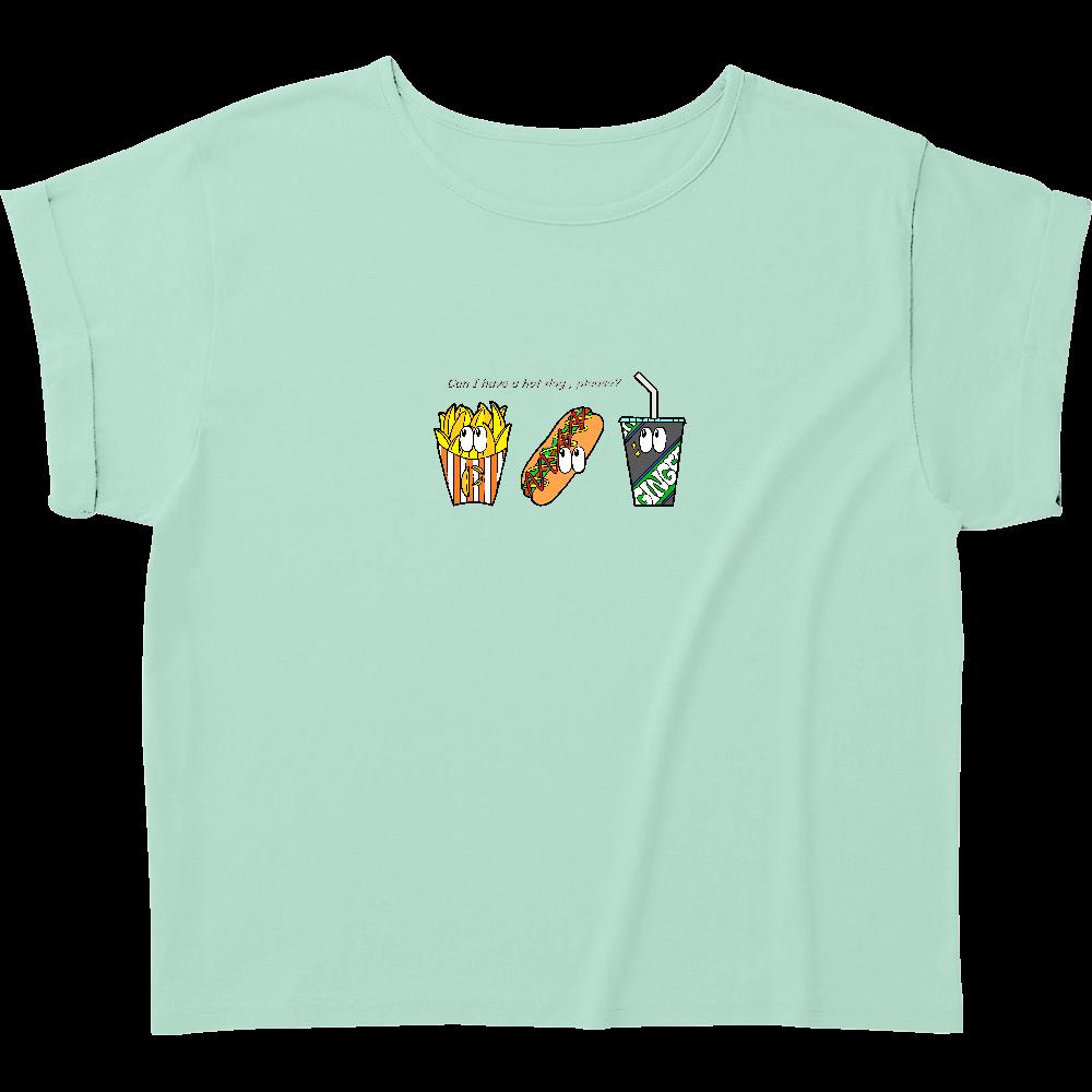 ファストフード/カラー ウィメンズ ロールアップ Tシャツ