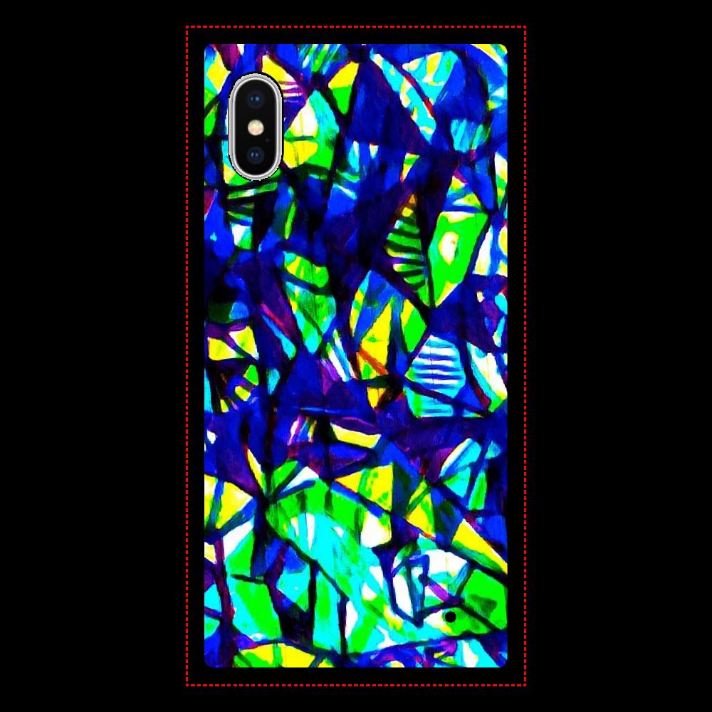 蛍石 iPhoneX/XS 背面強化ガラス(スクエア)