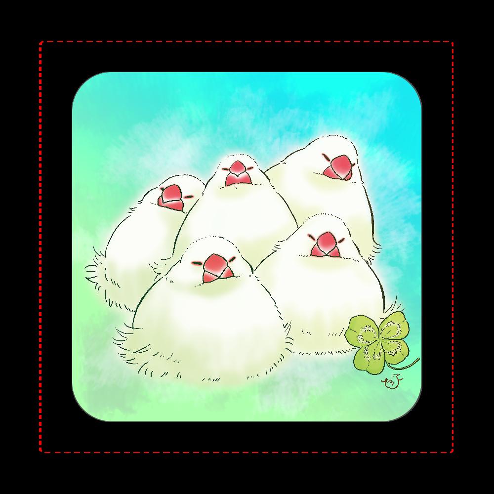寄せもち文鳥(タオルハンカチ) 全面プリントハンカチタオル
