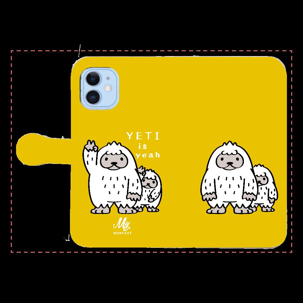 CT94 YETI is yeah A iPhone12/12pro 手帳型スマホケース