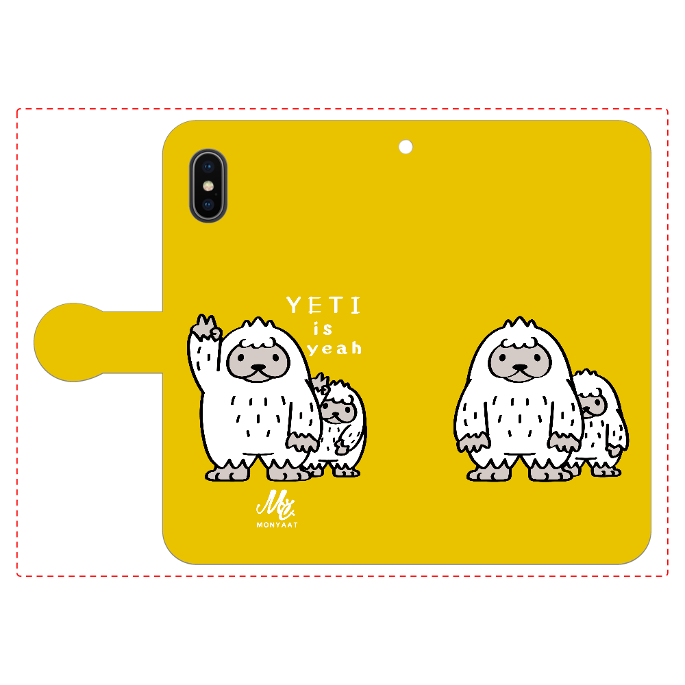 CT94 YETI is yeah A iPhoneX/Xs 手帳型スマホケース