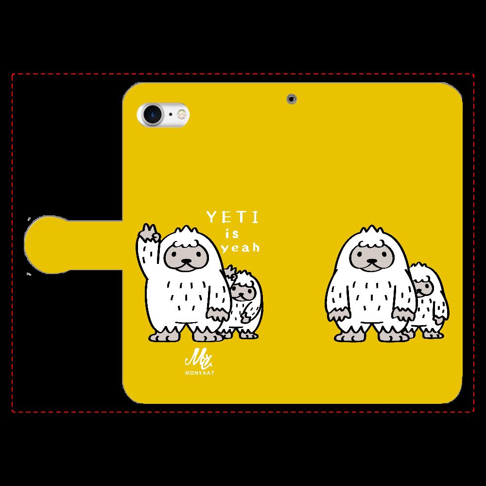 CT94 YETI is yeah A 手帳型ベルト付きiPhone8