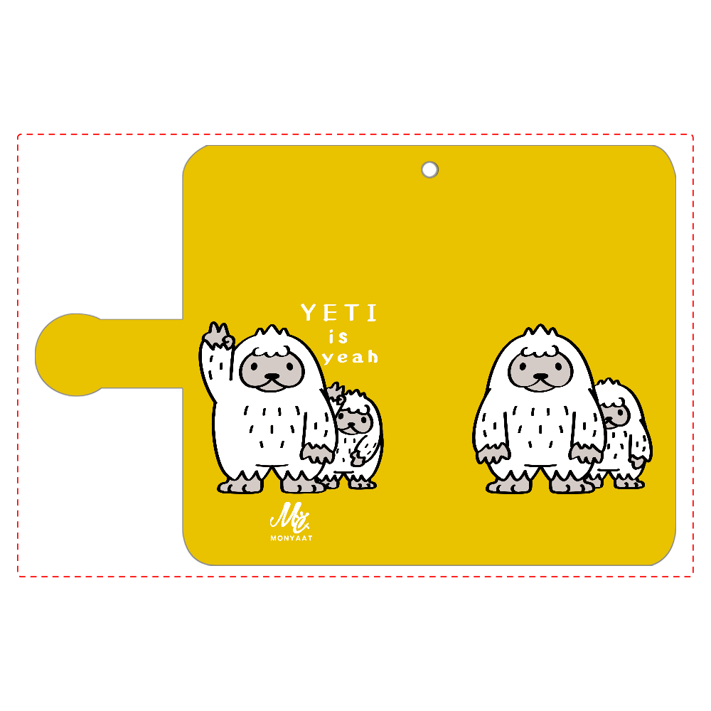 CT94 YETI is yeah A 手帳型ベルト付きアンドロイドS