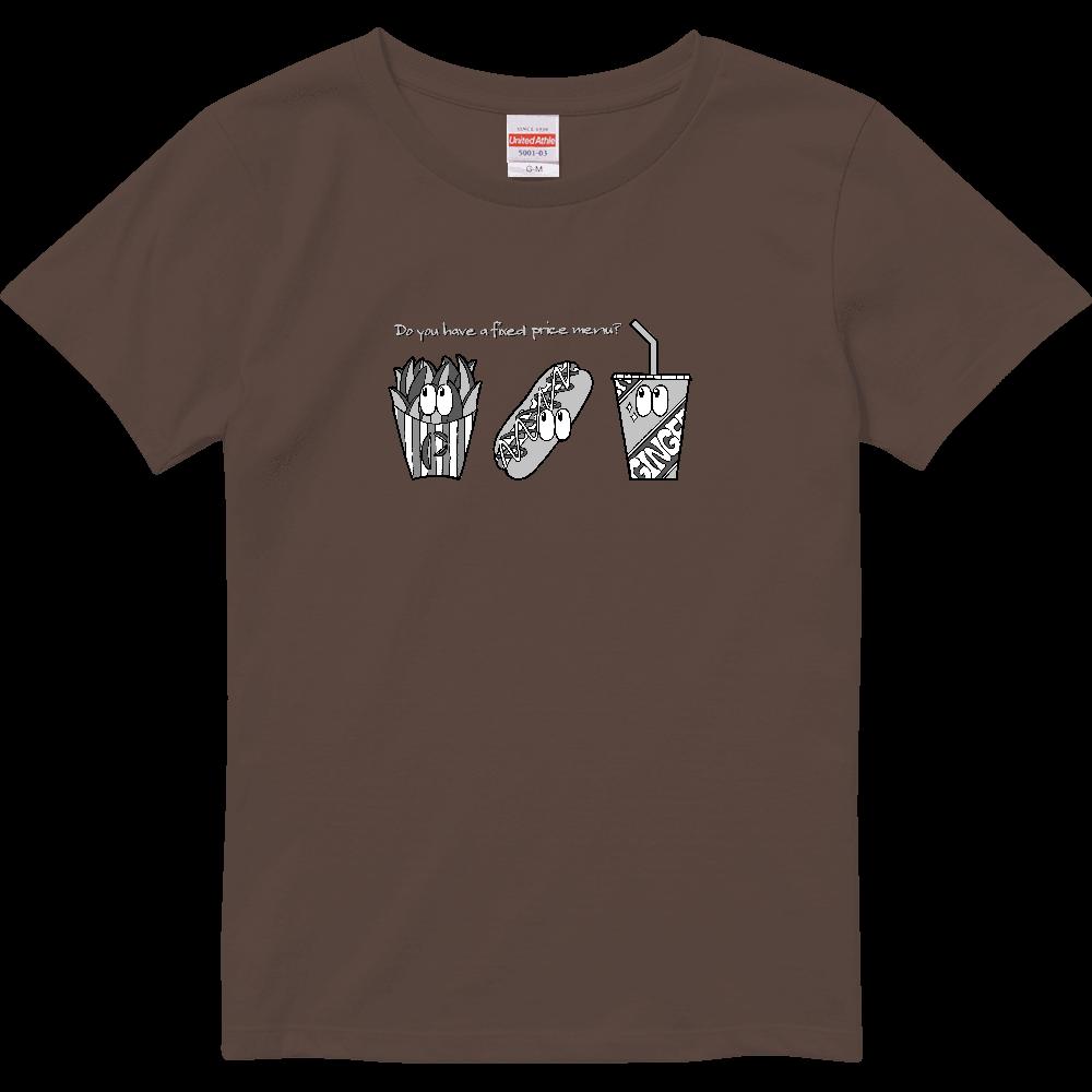 ファストフード/モノクロ ハイクオリティーTシャツ(ガールズ)