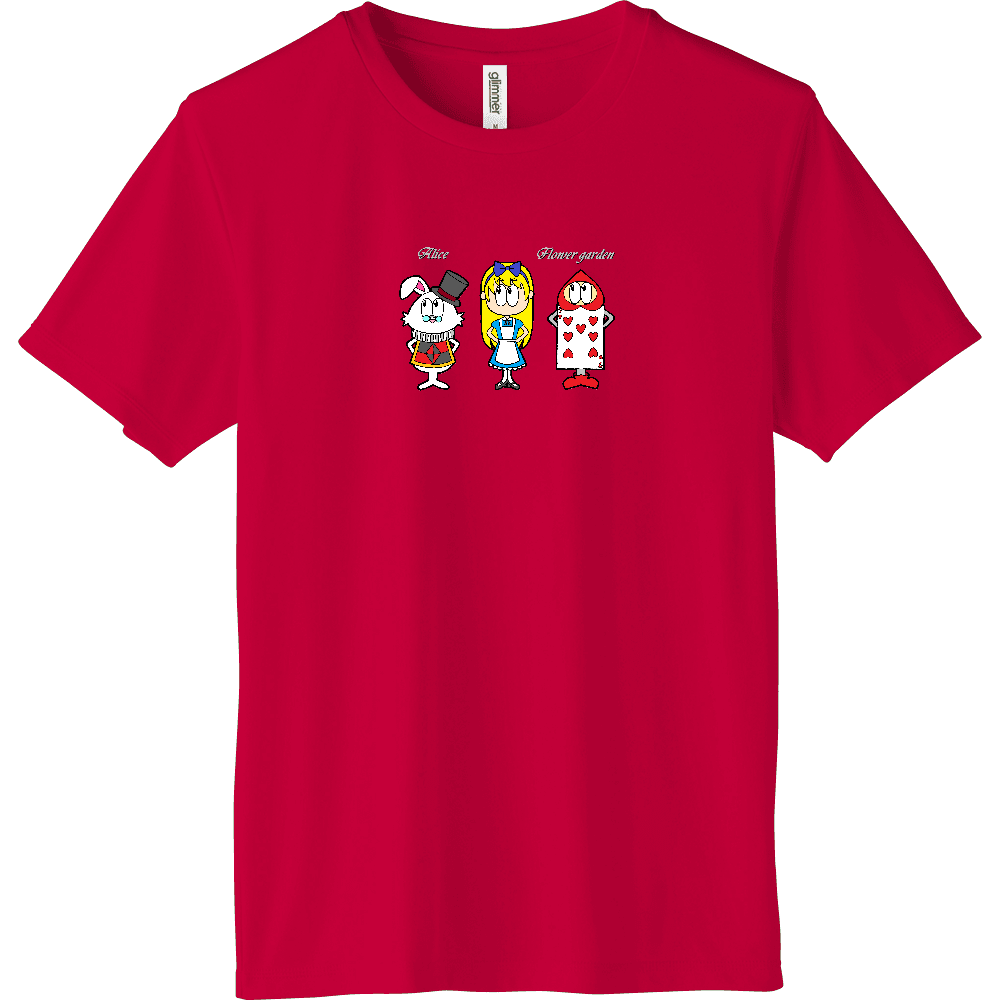 アリス/フラワーガーデン インターロックドライTシャツ
