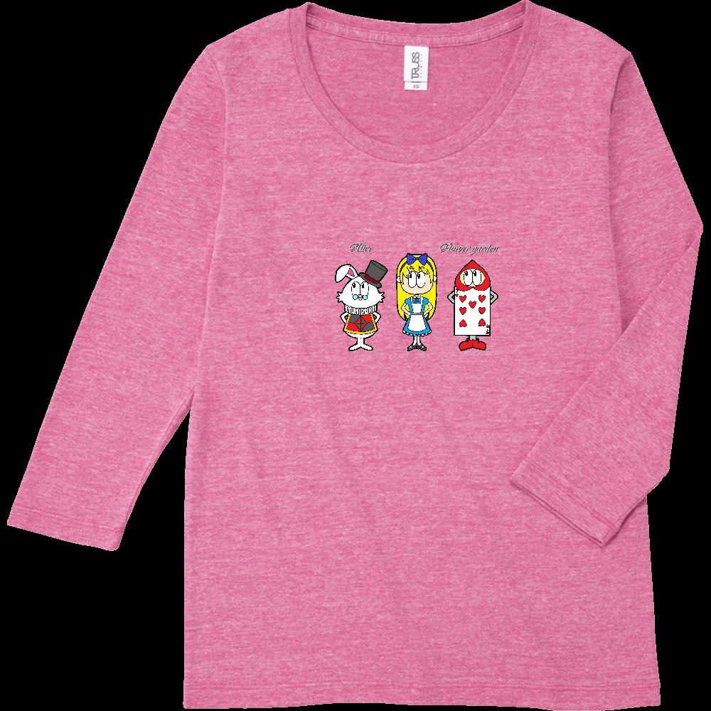 アリス/フラワーガーデン トライブレンド7分袖レディースTシャツ