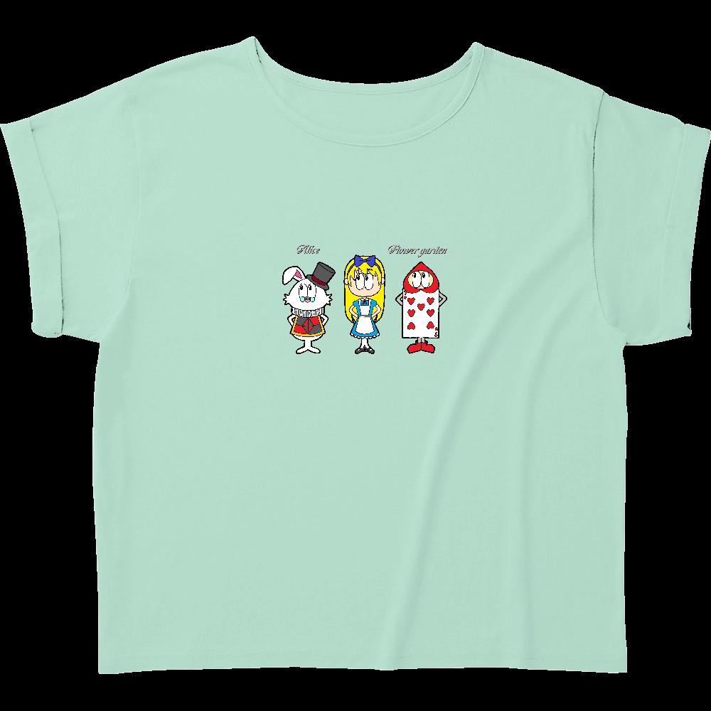 アリス/フラワーガーデン ウィメンズ ロールアップ Tシャツ