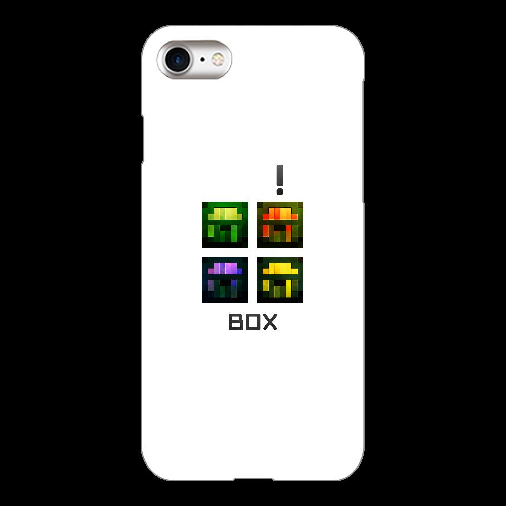 「4BOX」 iPhoneケース iPhone8(白)