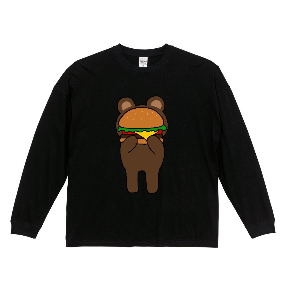 shy bear ビッグシルエットロングスリーブTシャツ