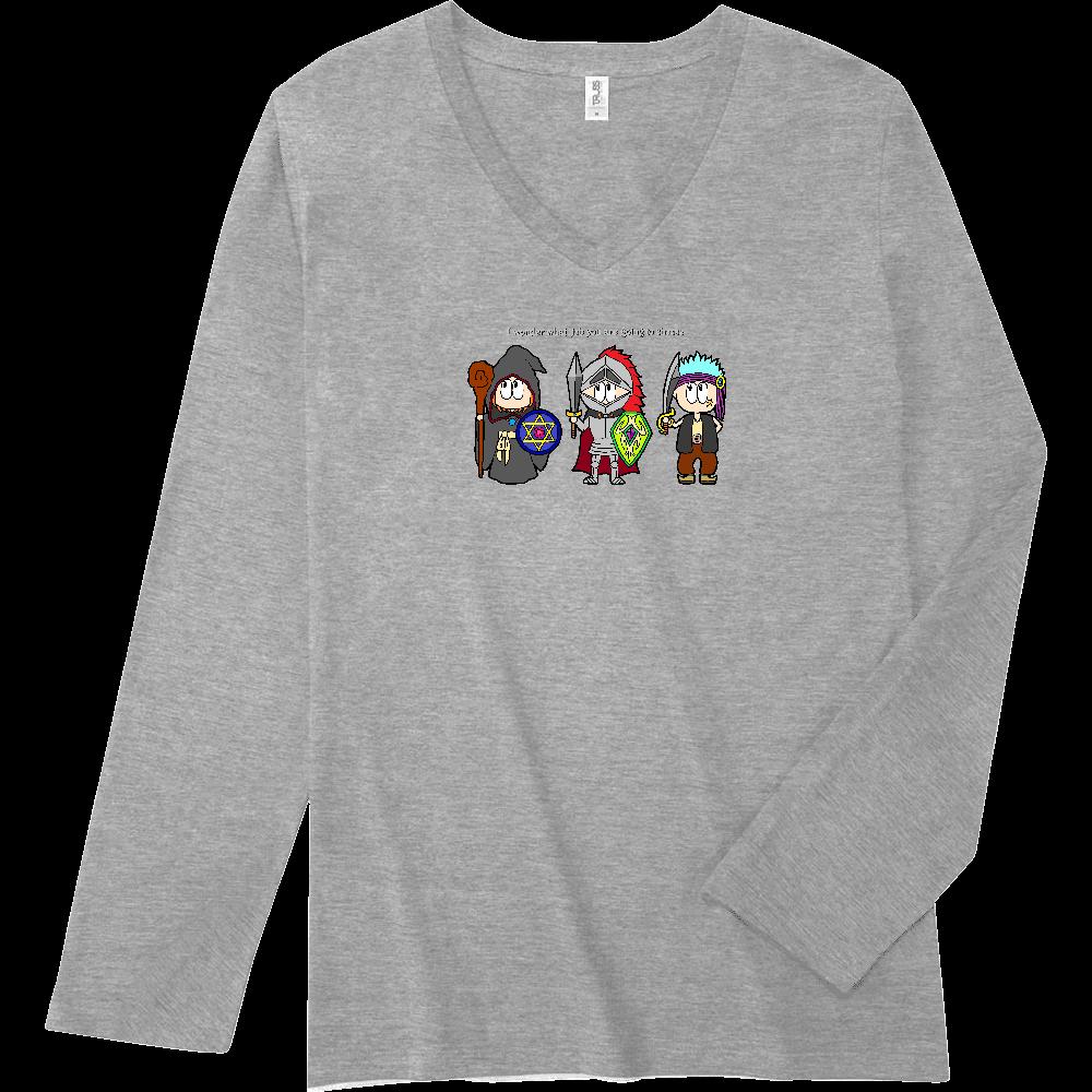 ゲーム/RPG スリムフィット VネックロングスリーブTシャツ